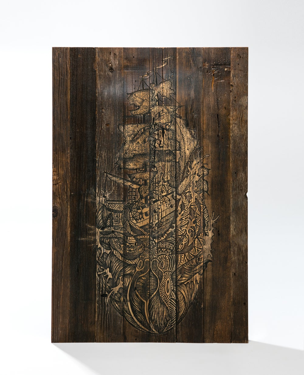 Image of Reclaimed wood kraken