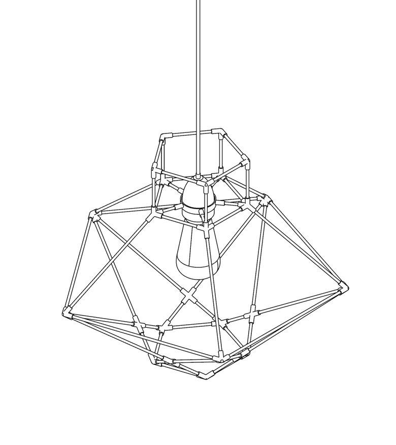 Image of WIREFRAME LAMP 06