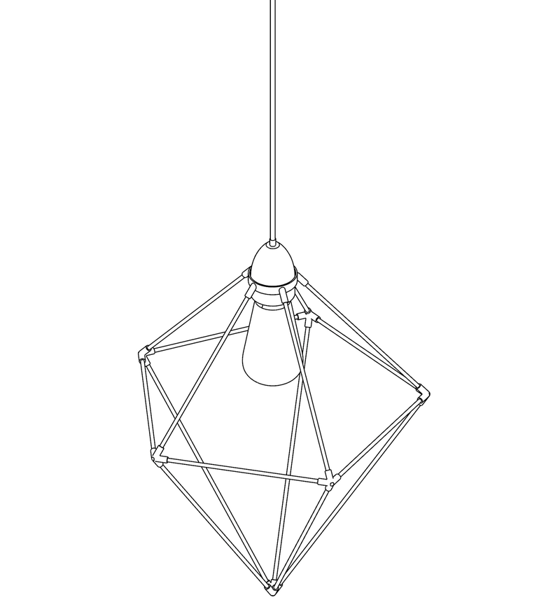 Image of WIREFRAME LAMP 08
