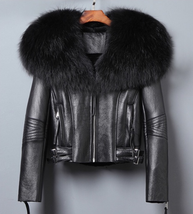 Image of QUEEN LEATHER JACKET