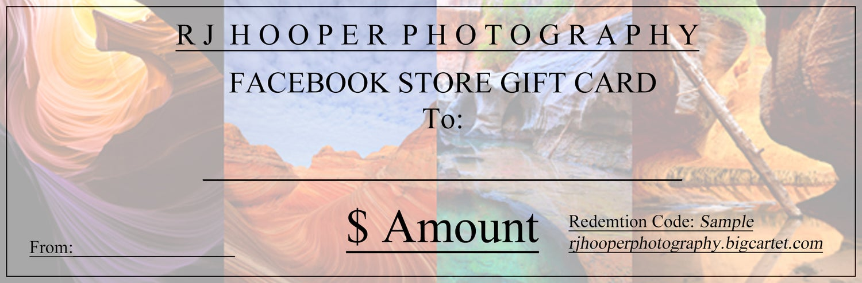 Image of RJ Hooper Store Gift Card