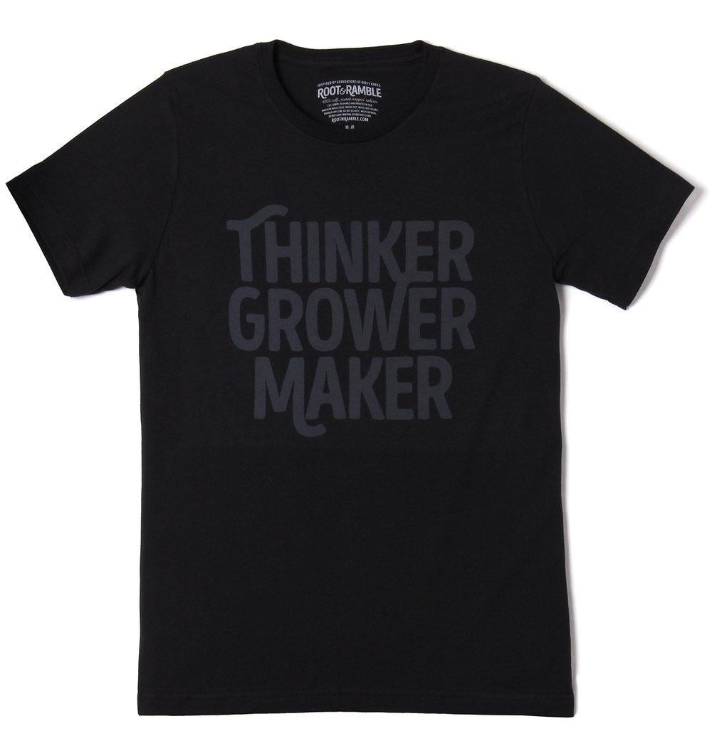 Image of MEN'S THINKER, GROWER, MAKER T-SHIRT