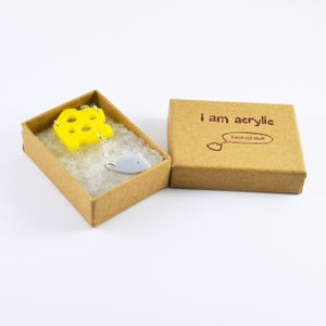 Image of Mouse & Cheese necklace