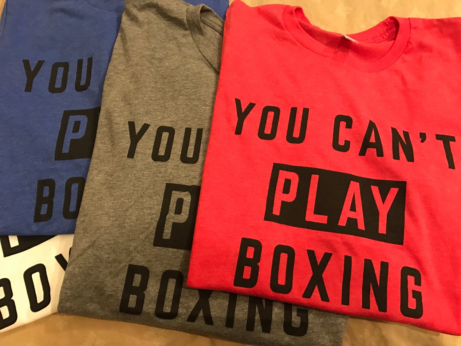 Image of Mens [RED] You can't play boxing tees