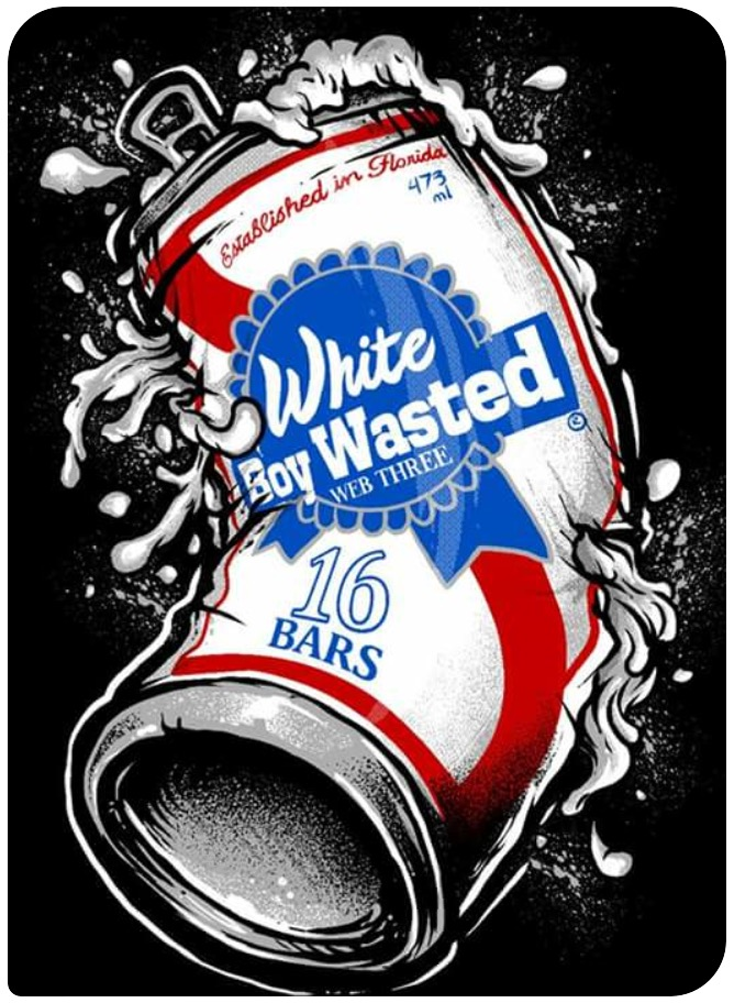 Image of White Boy Wasted Beer Can T-shirt