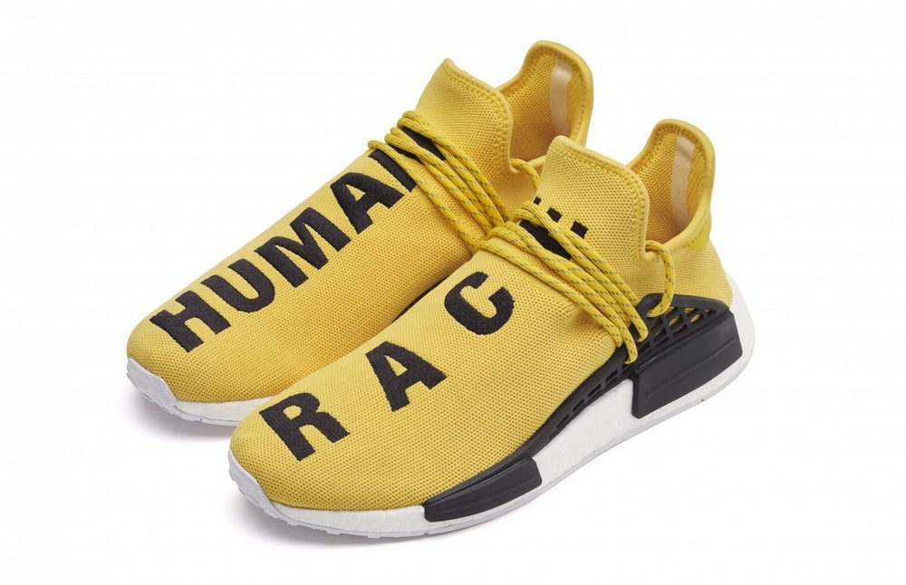 Image of Adidas NMD Human Race Yellow ... 933e40354e4d
