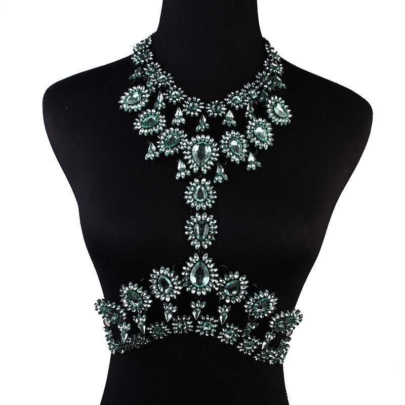 Image of Bella Body Statement Necklace GREEN