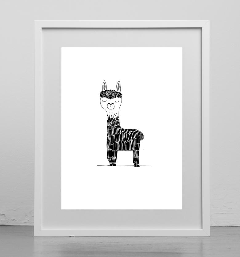 Image of Print : Lama