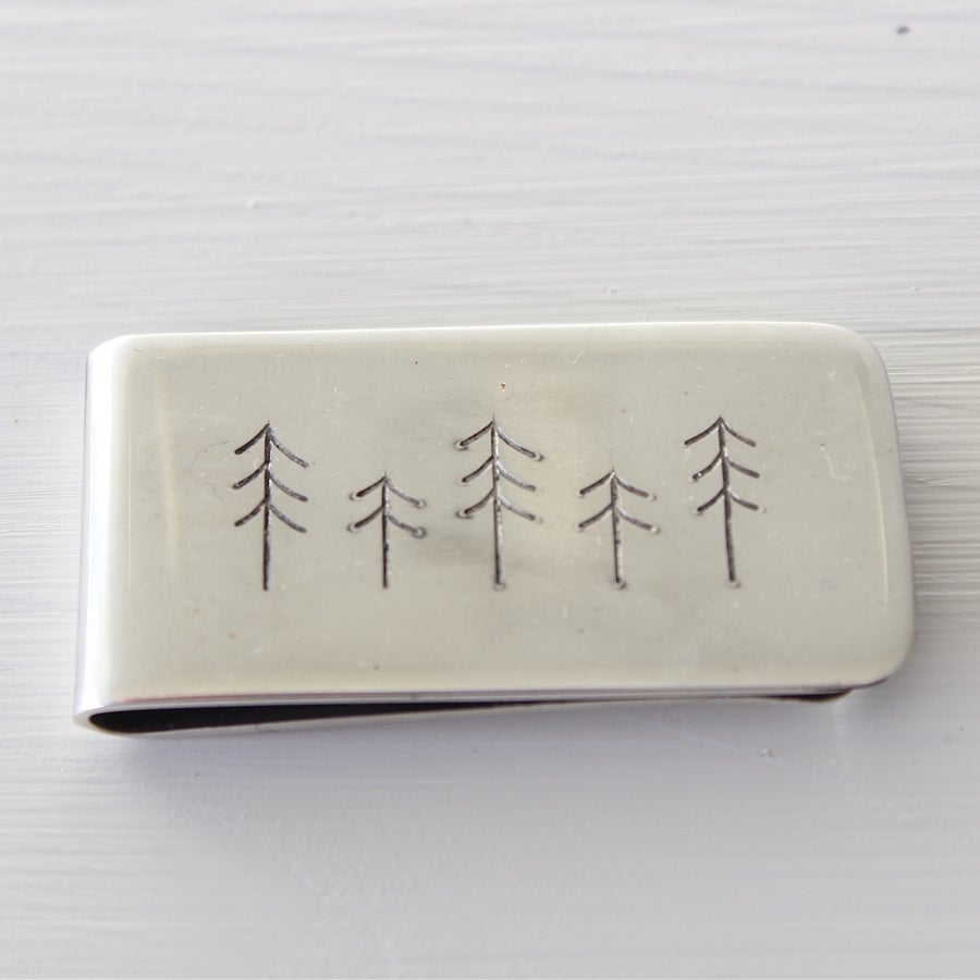 Image of men's spruce money clip