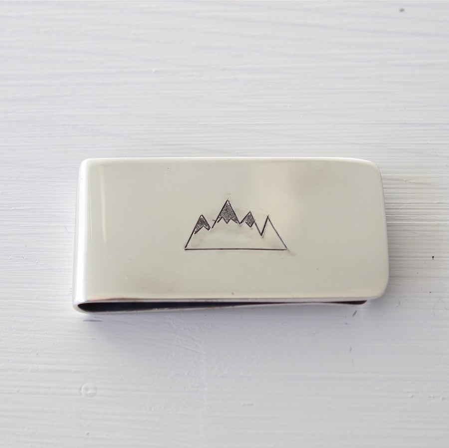 Image of men's snowy mountains only clip