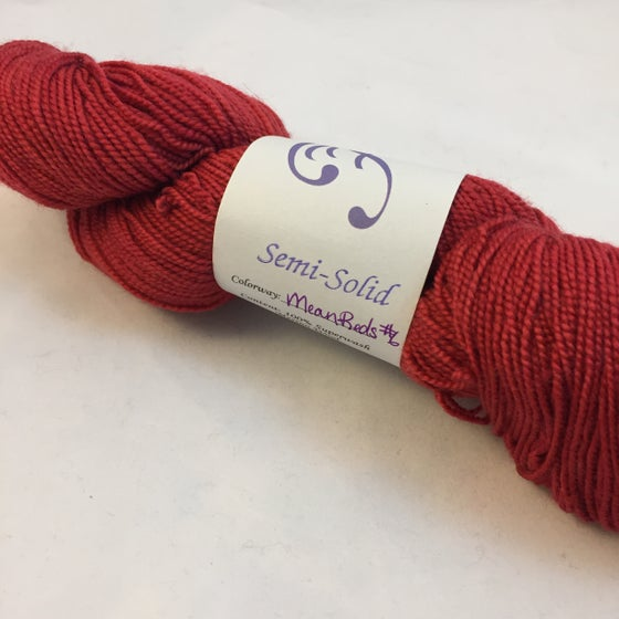 Image of Mean Red #6: Superwash Warm Heart Fingering