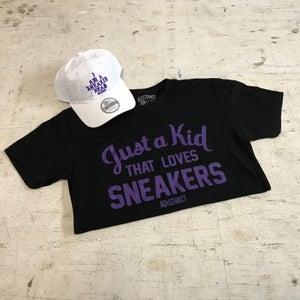 """Image of JUST A KID THAT LOVES SNEAKERS """"PURPLE"""" T-SHIRT & HOODY"""