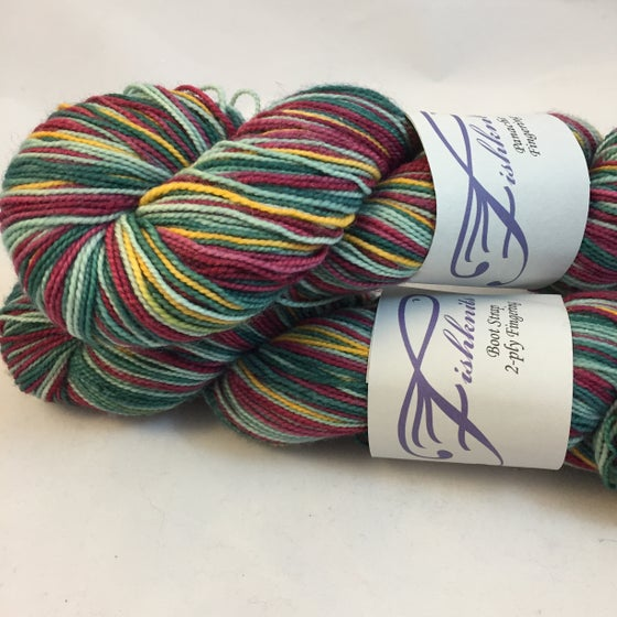 Image of Oops, a mistake! Harvest Time: Superwash sparkle Panache Self Striping Sock Yarn