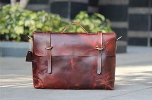 "Image of Handmade Leather Briefcase / Leather Messenger Bag / 13"" 15"" MacBook 13"" 14"" Laptop Bag (n367)"