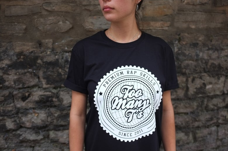 Image of Too Many T's TEE - Large logo