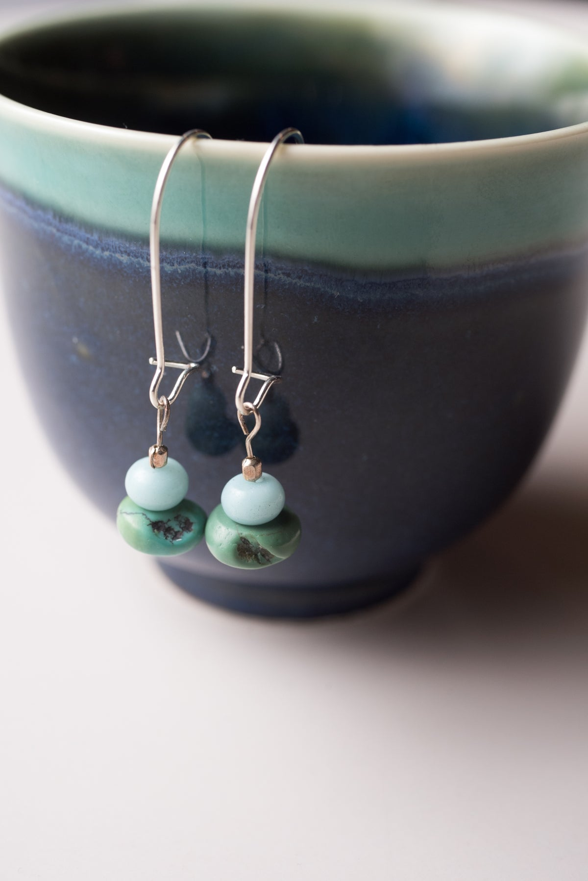 Image of Turquoise and Amazonite Earrings