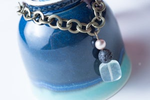 Image of Fluorite, Sqarovski, and Lava Stone Set
