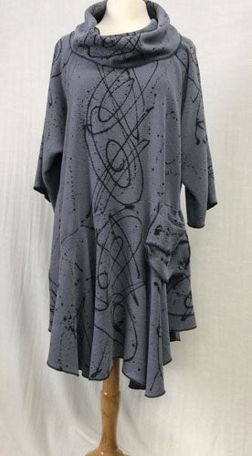 Image of Rome Dress/Tunic - Luscious Tencel - Steel Blue