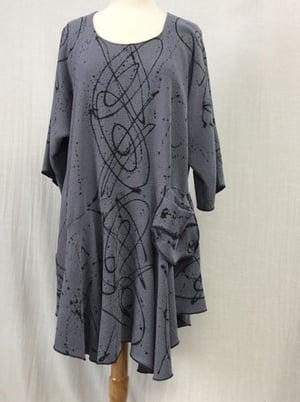 Image of Rome Dress/Tunic - Luscious Tencel - Steel Blue
