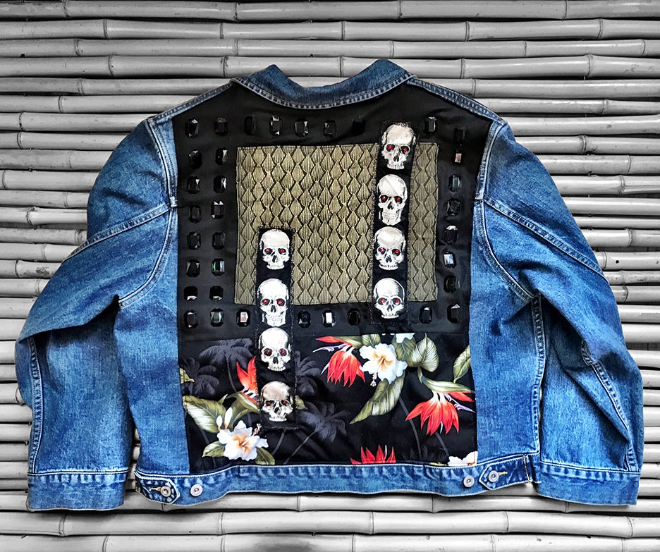 Image of BLACK DIAMOND DENIM JACKET