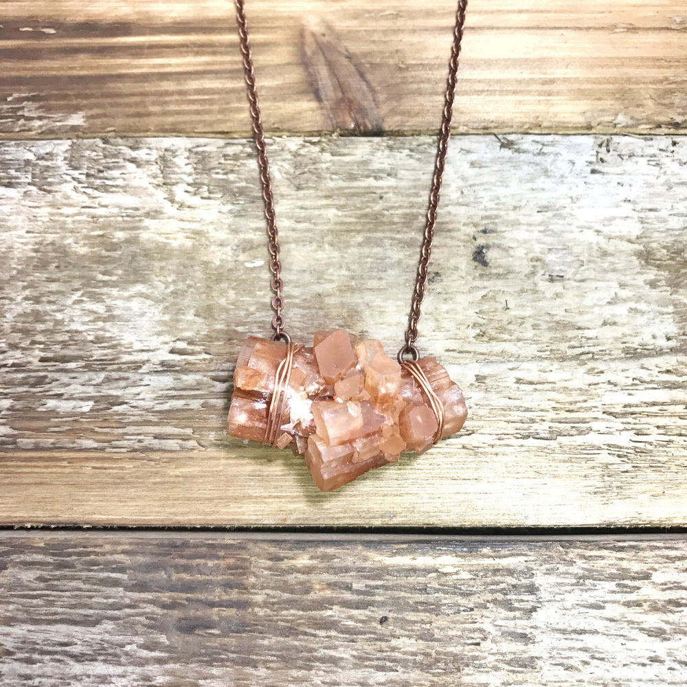 Image of Chunky Aragonite Crystal Necklace