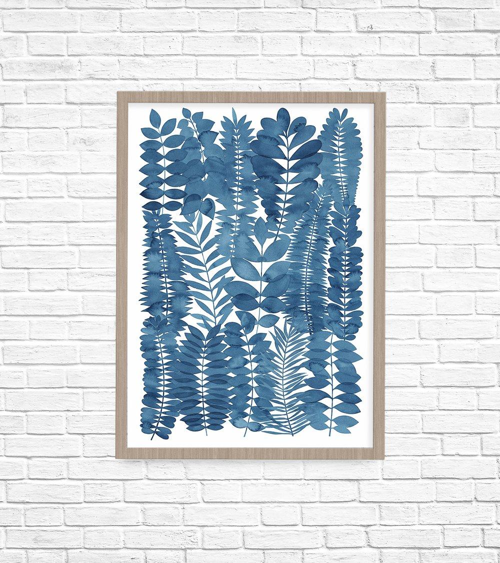 Image of Indigo Garden Fine Art Print
