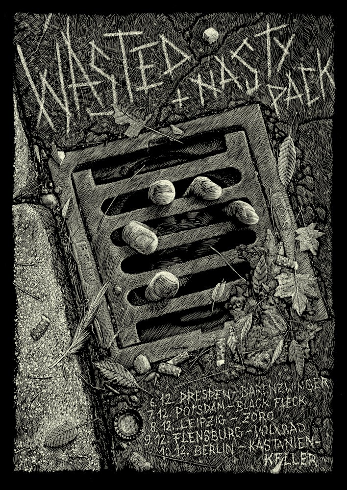 Image of »Wasted« + »Nasty Pack« Tour-Poster