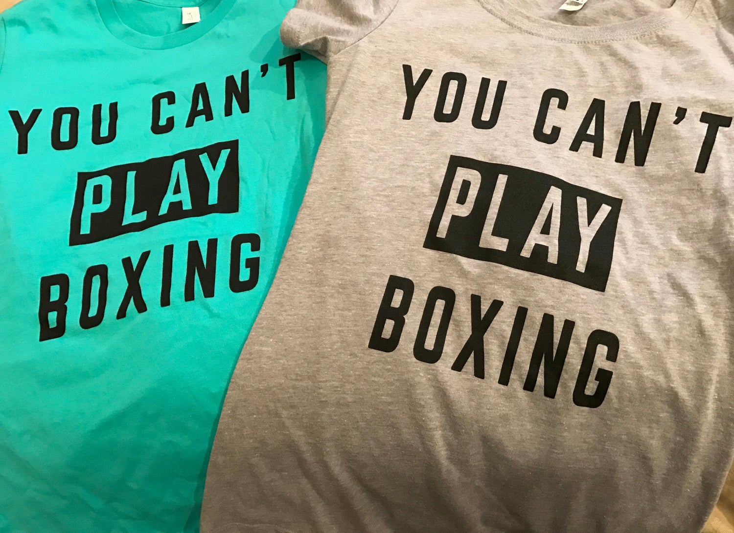 Image of Womens You can't play boxing tees