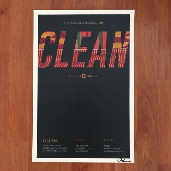 Image of SHINE St. Pete CLEAN Mural Print