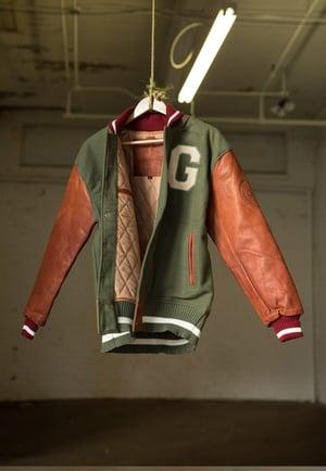 Image of Vintage Varsity Jacket | Olive & Cognac
