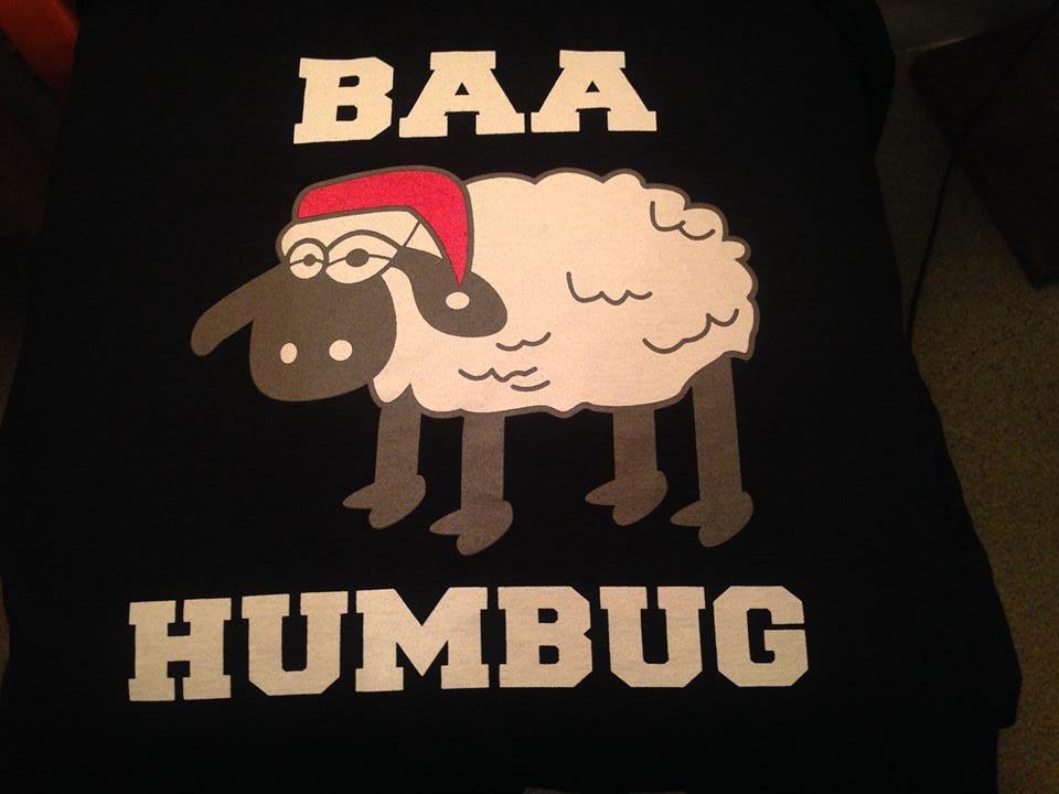 67b5984b09 BAA HUMBUG — UNiSEX BAA HUMBUG GRUMPY XMAS T-SHIRT - free delivery in uK