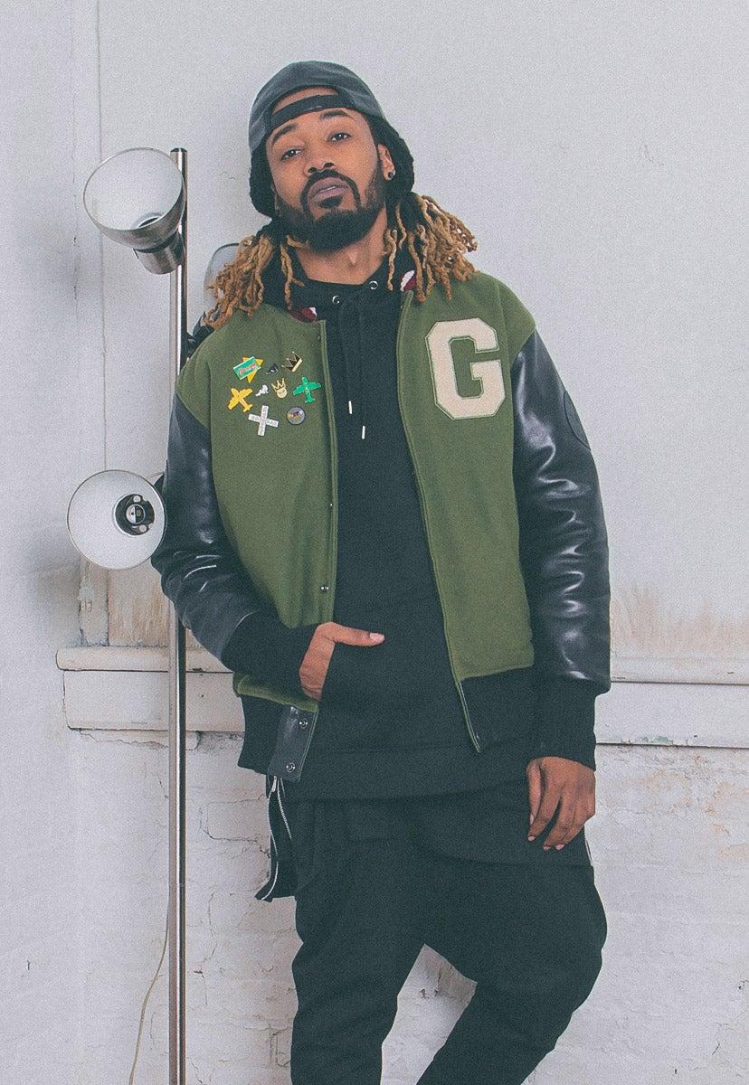 Image of Vintage Varsity Jacket | Olive & Black
