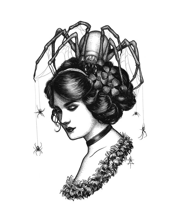 Image of Spiders In Her Hair