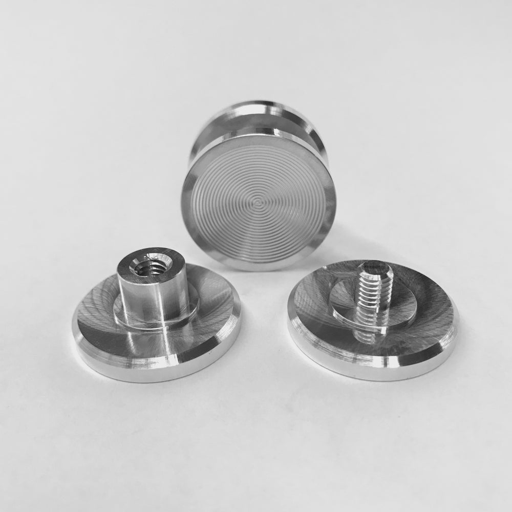 "Image of Aluminum ""F"" Spinner Fidget Toy Bearing Button"