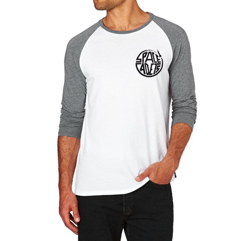 Image of Long Sleeve Grey White Small Logo