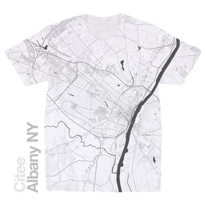 Image of Albany NY map t-shirt