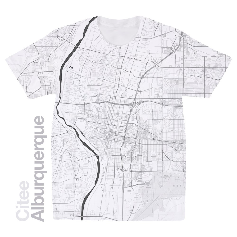 Image of Alburquerque NM map t-shirt