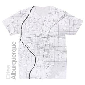 Image of Alburquerque NM map t-shirt