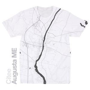 Image of Augusta ME map t-shirt