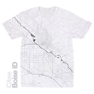 Image of Boise ID map t-shirt