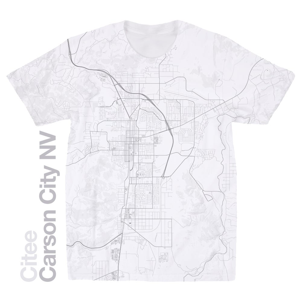 Image of Carson City NV map t-shirt