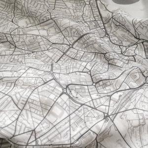 Image of Charlotte NC map t-shirt