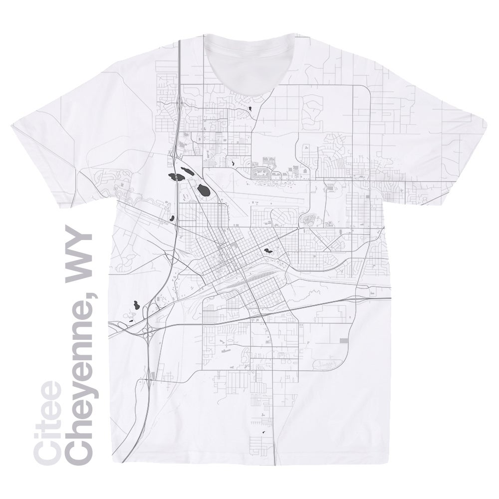 Image of Cheyenne WY map t-shirt