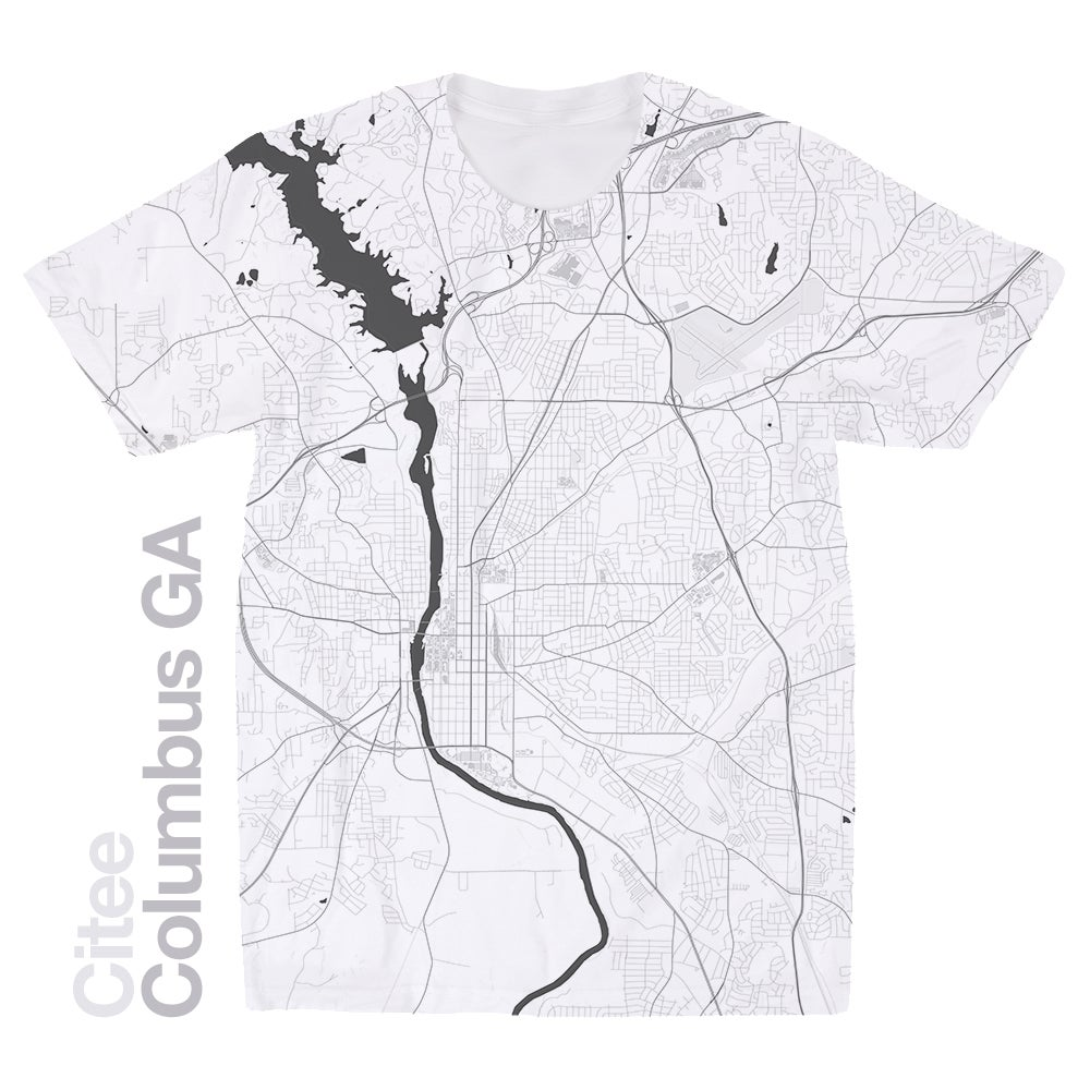 Image of Columbus GA map t-shirt