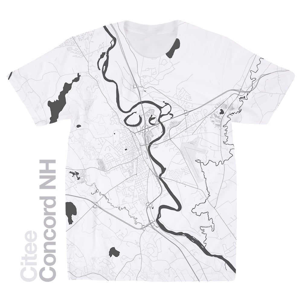 Image of Concorde NH map t-shirt