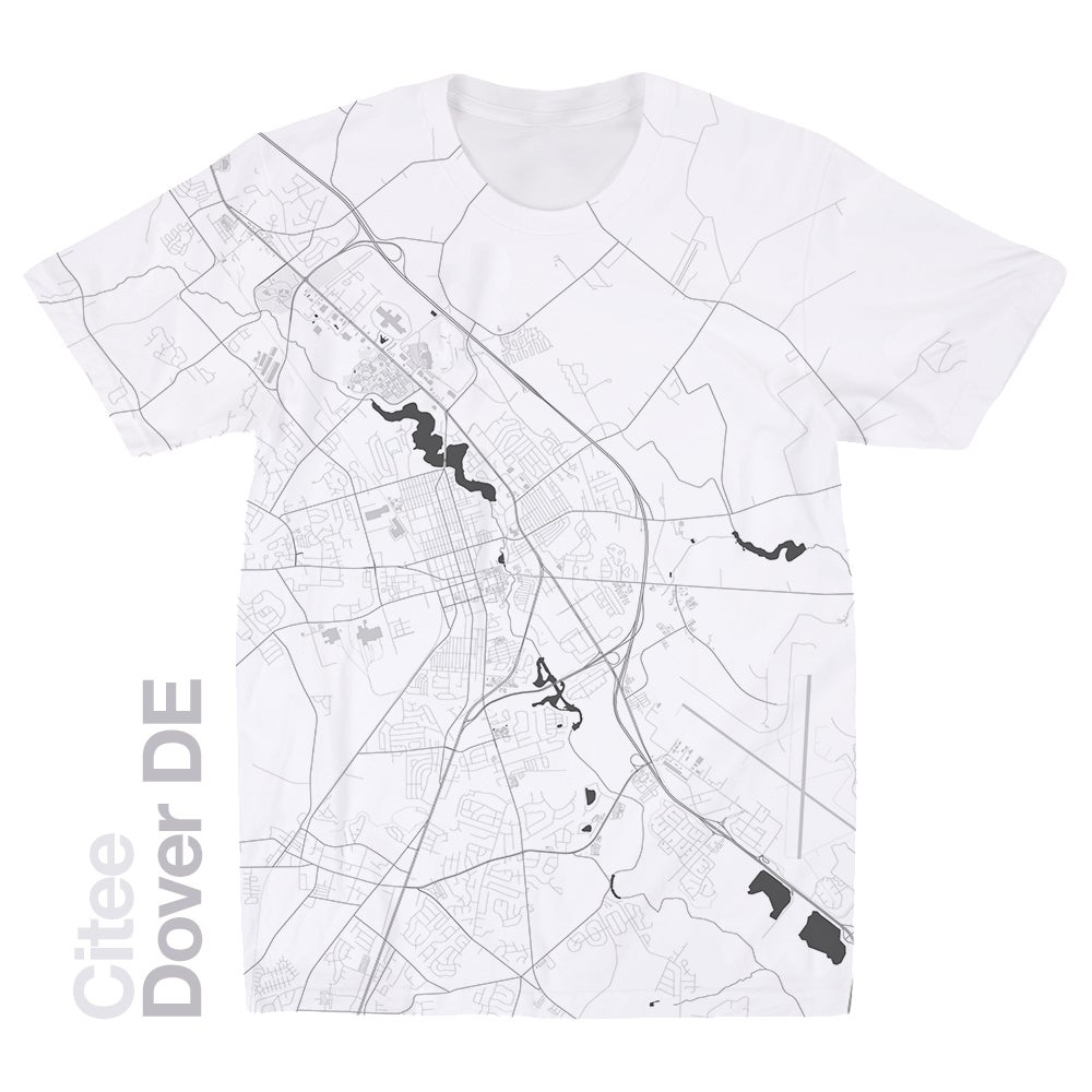 Citee Fashion | Dover DE map t-shirt on