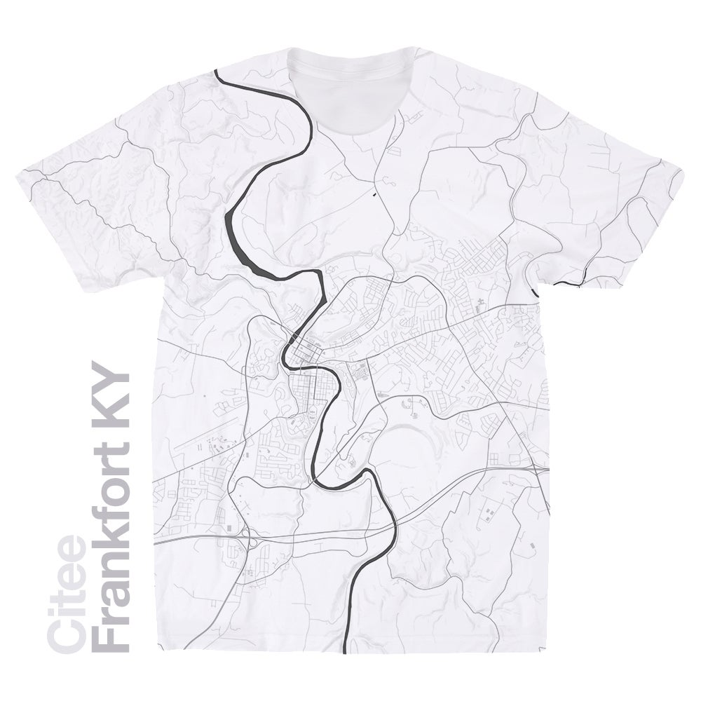 Image of Frankfort KY map t-shirt