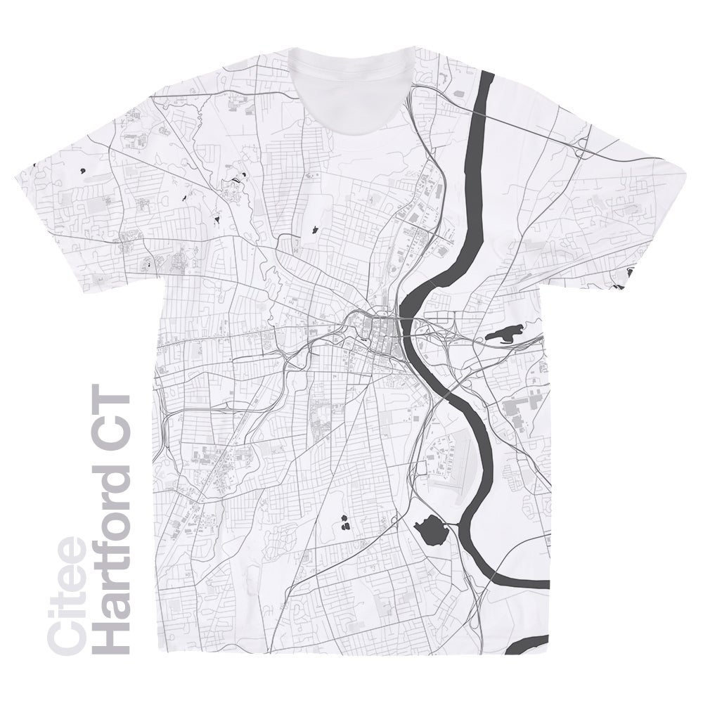 Image of Hartford CT map t-shirt