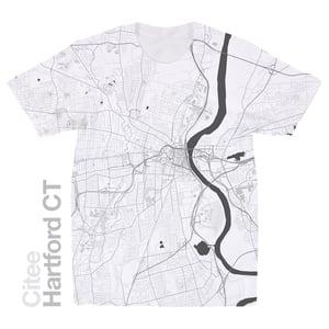 Image of Hartford CT map t-shirt
