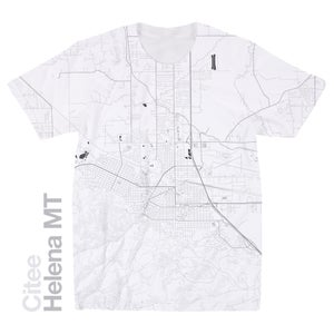 Image of Helena MT map t-shirt